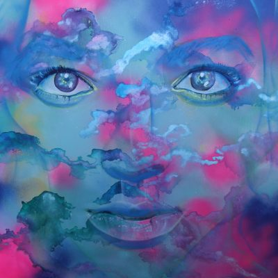 Air (Eternal Vision), Ink and Spray Paint 36 in. by 36 in.